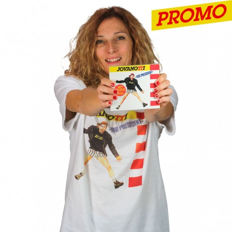 Jovanotti for President T-shirt unisex bianca + CD