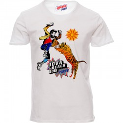 "t-shirt unisex Tigre ""Jova Beach Party"" - bianca"