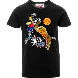 "t-shirt unisex Tigre ""Jova Beach Party"" - nera"